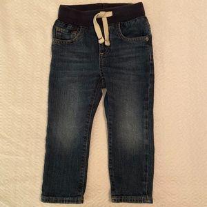 Baby Gap Drawstring Dark Denim Softest Jeans 2T